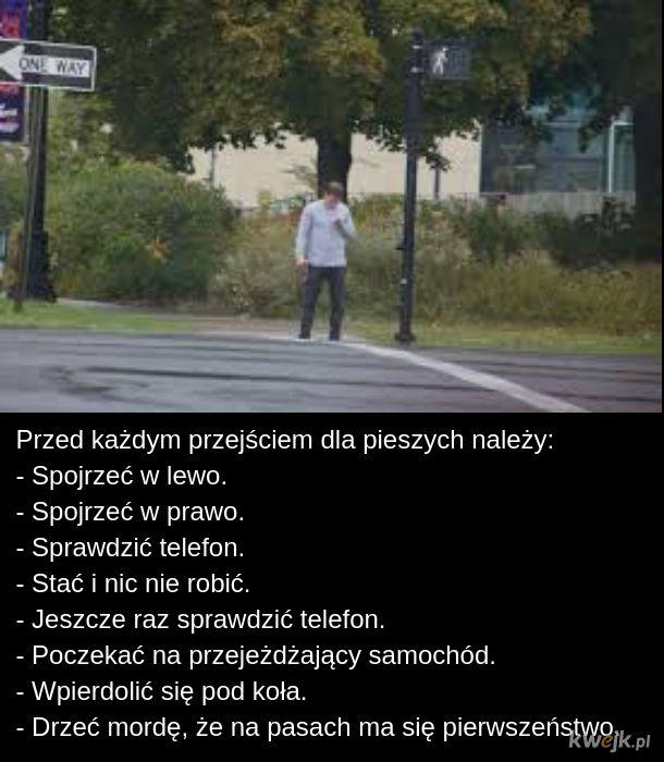 Typowy pieszy