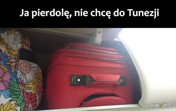 Obrażona walizka