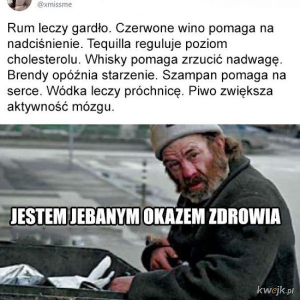 Alkohol leczy