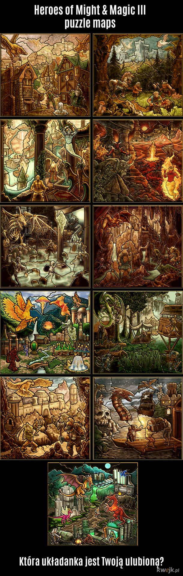 Heroes of Might & Magic III puzzle maps