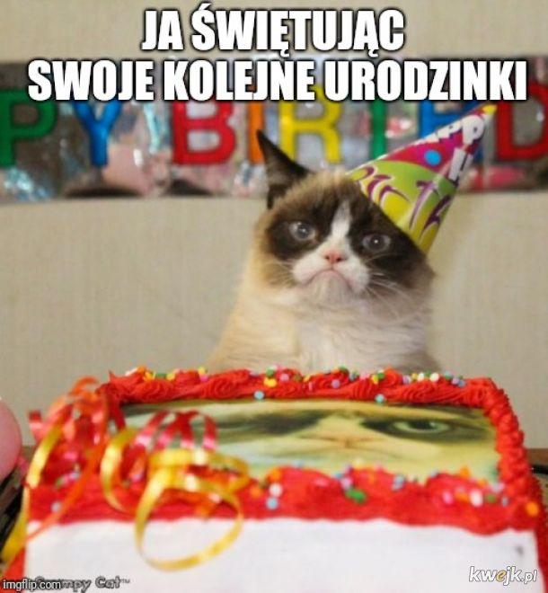 Ja świętując swoje kolejne urodzinki