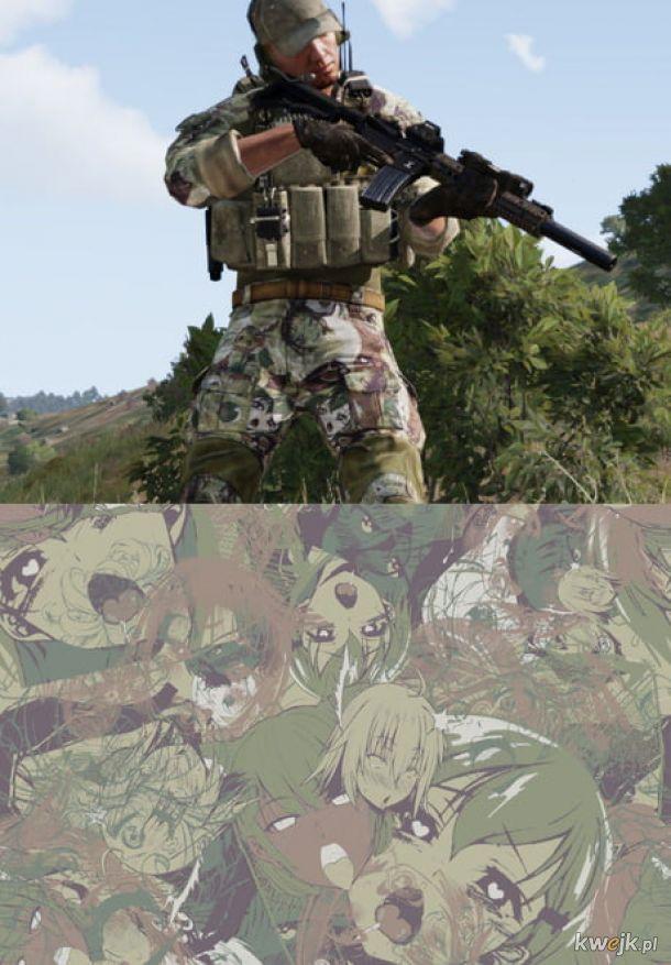 Test nowego kamuflażu sił specjalnych.