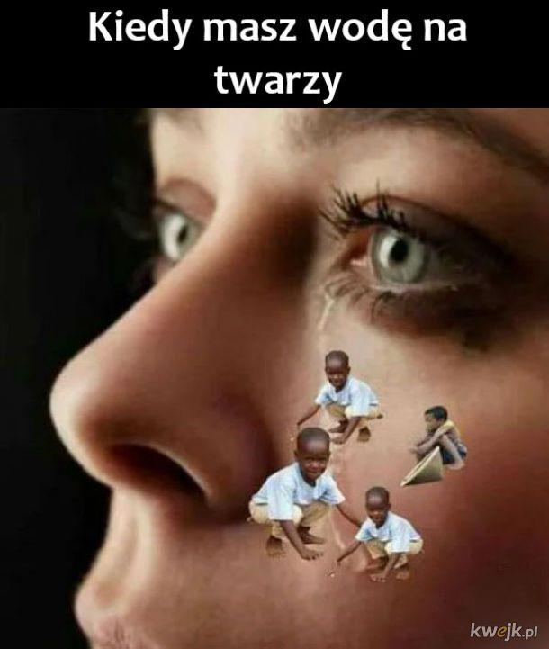 Woda na twarzy