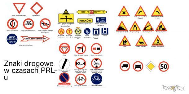 Znaki drogowe w czasach PRL-u jest ich 40, obecnie mamy ich już 342..