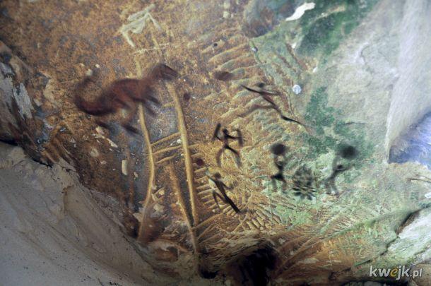 BREAKING: w Radomiu znaleziono malowidła naskalne datowane na dziesiątki tysięcy lat potwierdzające fakt rzucania kamieniami w dinozaury.