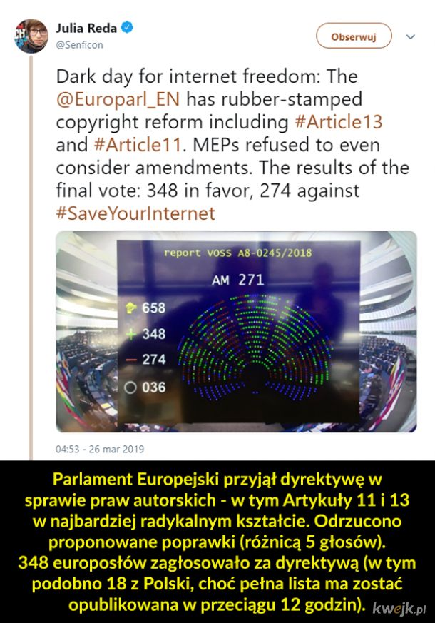 ACTA2 przegłosowane
