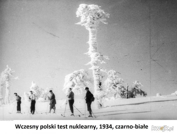 Wczesny polski test atomowy, Tatry 1934, czarno-białe
