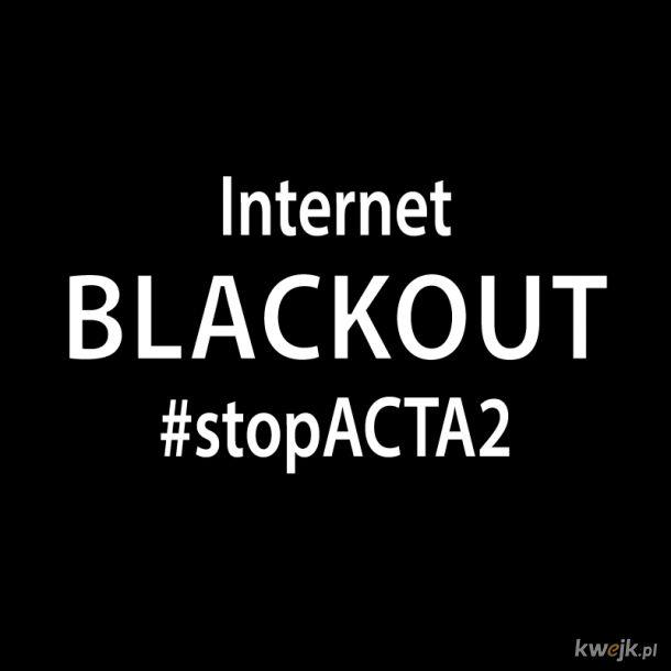 Dołącz do blackoutu Internetu. Ustaw obrazek blackout w mediach społecznościowych.