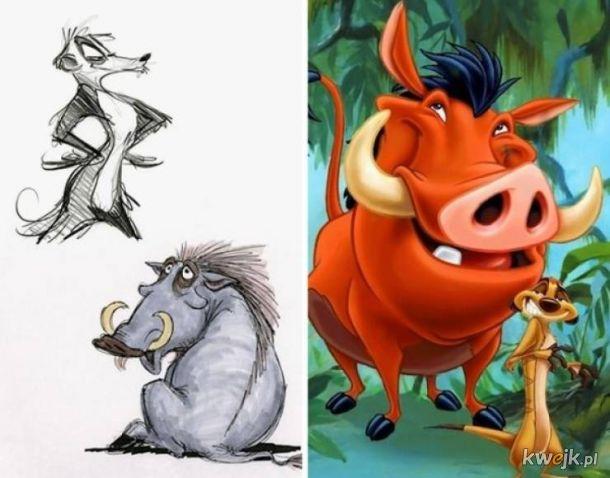 Oto oryginalne szkice postaci Disneya