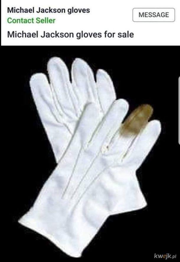Rękawiczki Jacksona na sprzedaż