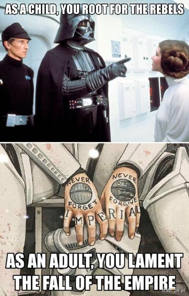 Darth Vader nie wiedział o Gwieździe Śmierci.