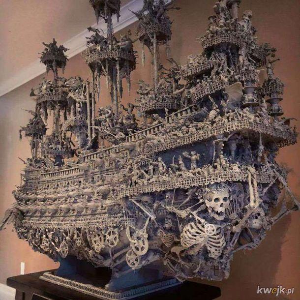 Beksiński 3D. Arka Apokalipsy - 2,5-metrowe dzieło Jasona Stieva - 14 miesięcy pracy i skupowania detali na targach staroci