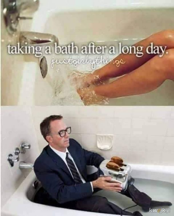 Kąpiel po ciężkim dniu