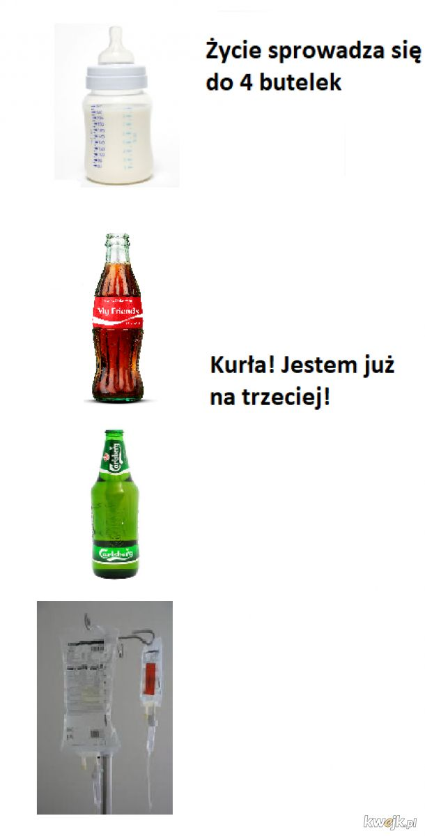4 butelki