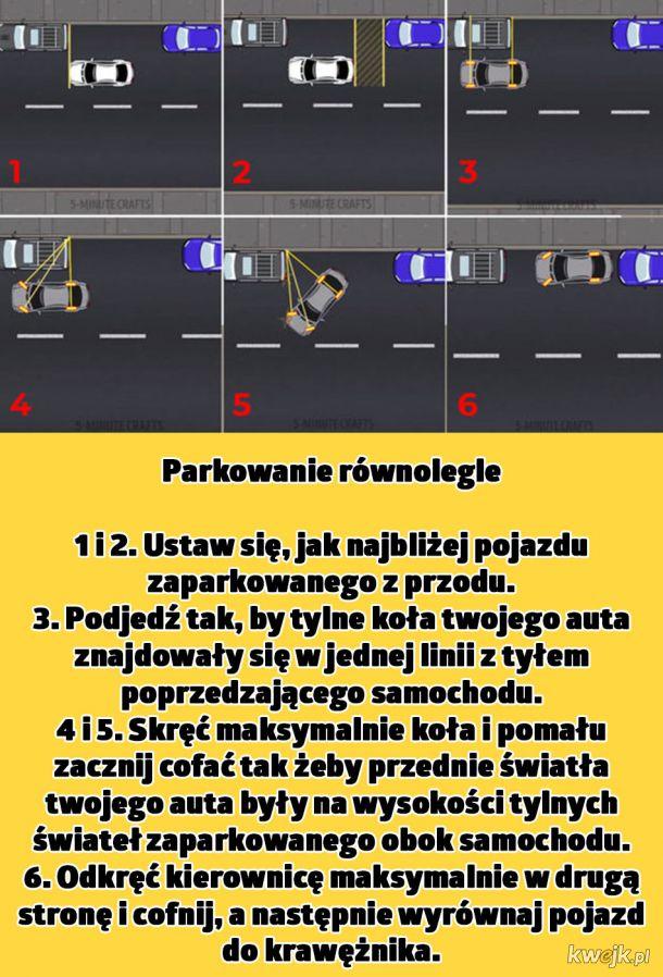 Triki dla kierowców, dzięki którym będziesz parkować i jeździć jak mistrz
