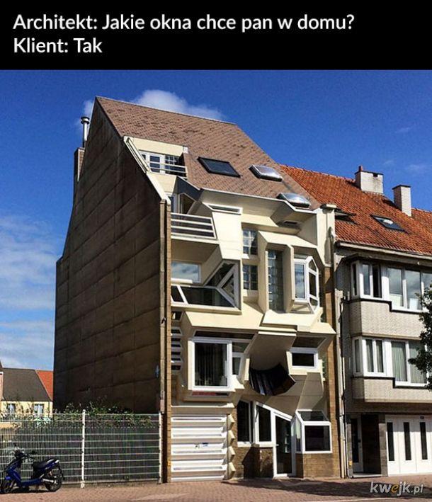 Brzydkie domy uwiecznione przez pewnego Belga