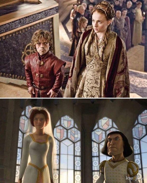 Podobieństwa między Shrekiem a Grą o Tron