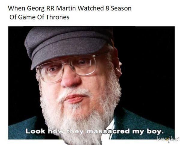 Gra o tron 8 sezon, Georg płakał jak oglądał