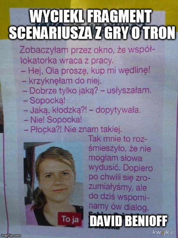 SCENARIUSZ GRY O TRON