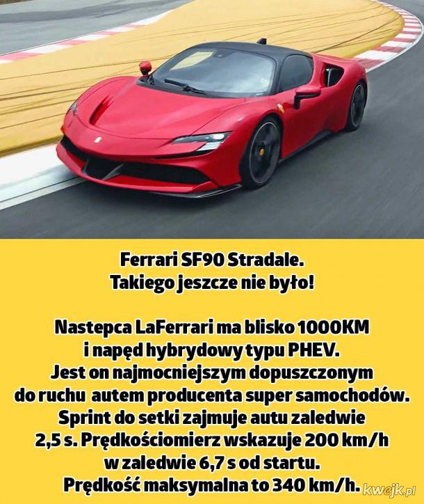 Niesamowite pierwsze hybrydowe Ferrari