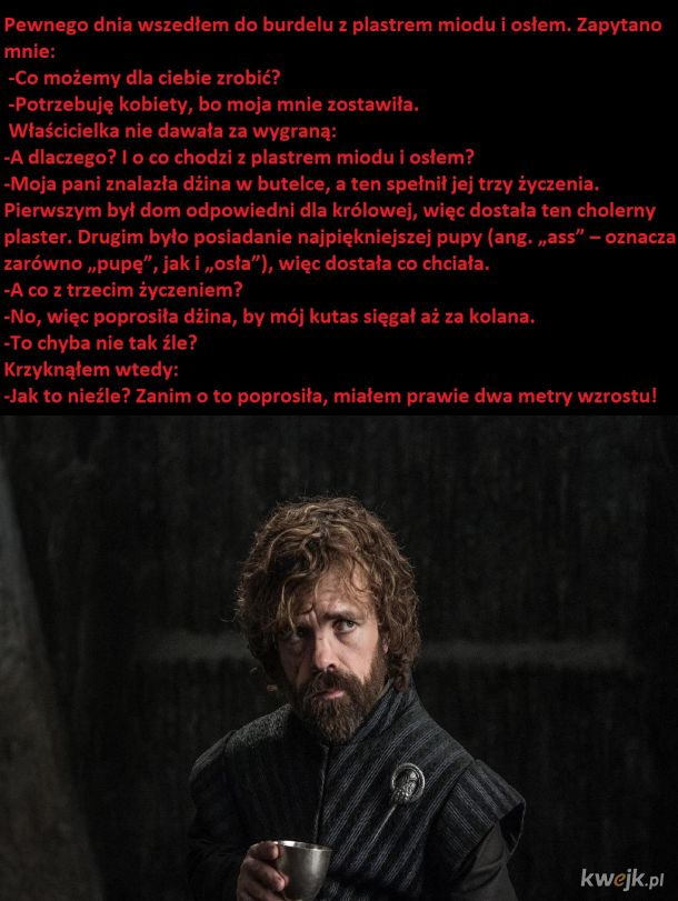 Historia Tyriona o ośle w burdelu: