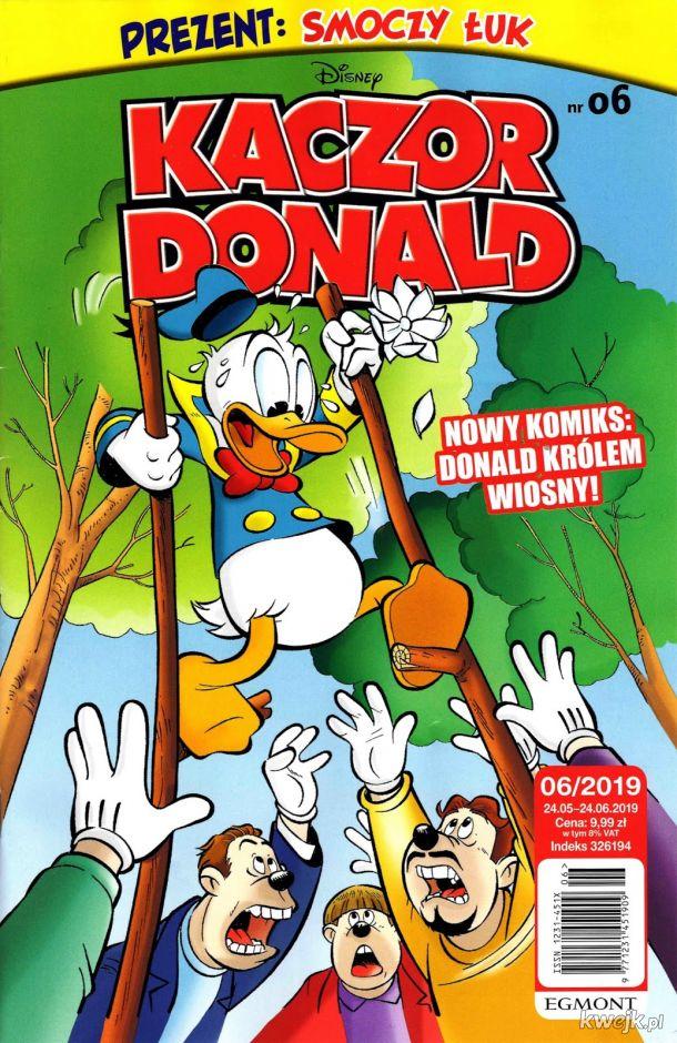 Kaczor Donald 2019-06 już w sprzedaży - w środku aż 43 stron komiksów !