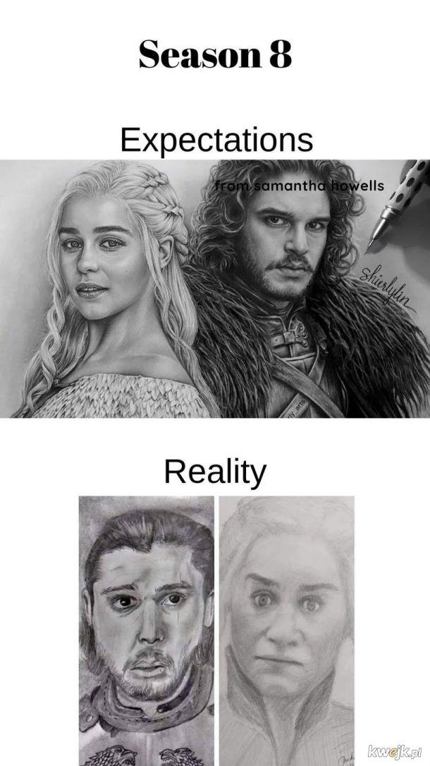 oczekiwania vs rzeczywistosc