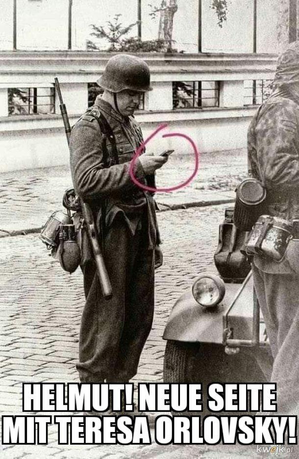 Autentyk! Pamiętajmy, że w latach 40. XX w. nie było jeszcze Photoshopa!