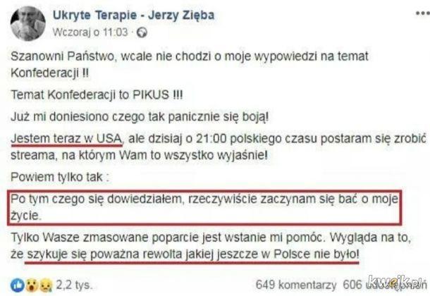 Jerzy Zięba ścigany przez Reptylian