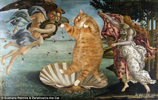 Kot Svetlany Petrovej na znanych obrazach