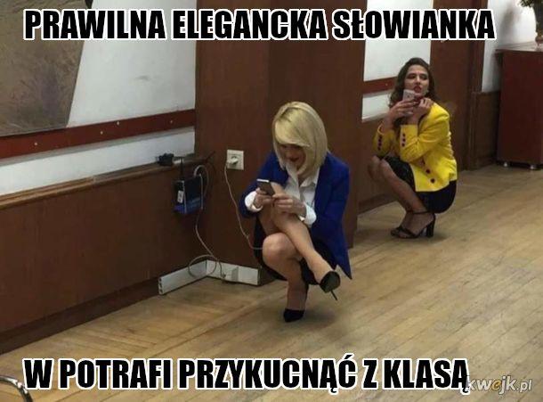 Slowainski damski przykuc
