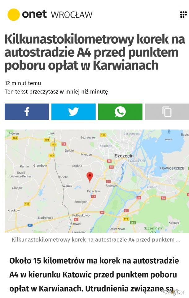 Precyzja Onetu! Autostrada A4 koło Szczecina:)