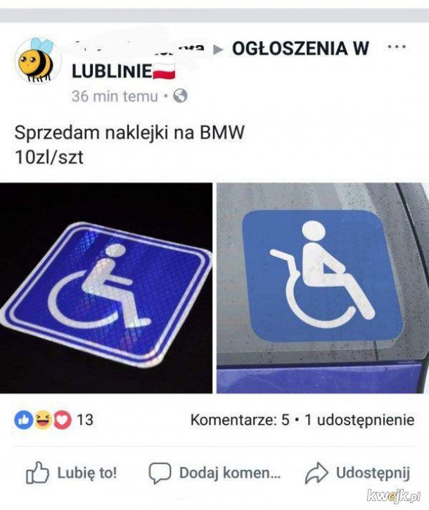 Naklejki na BMW