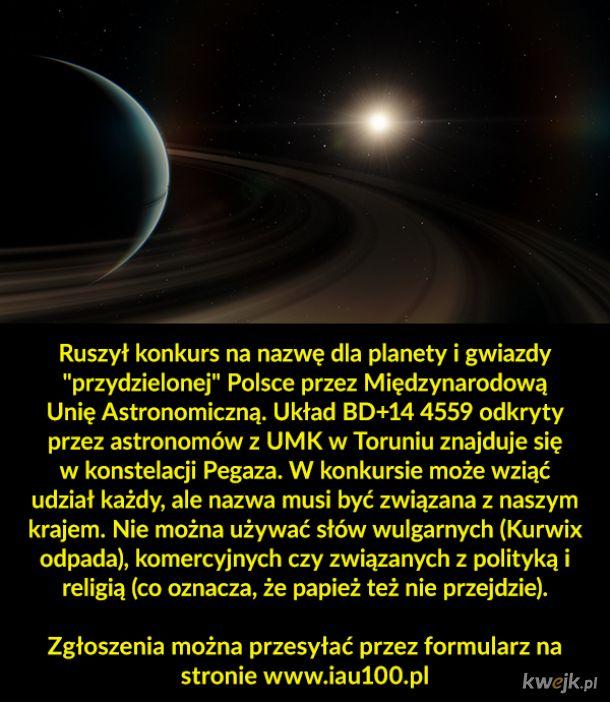 Polska nazwie gwiazdę i planetę