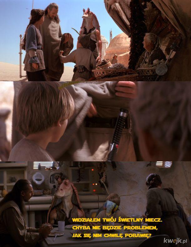 Ciem Anakin zawsze był bezpośredni, jeżeli chodziło o sprawy, na których mu bardzo zależało