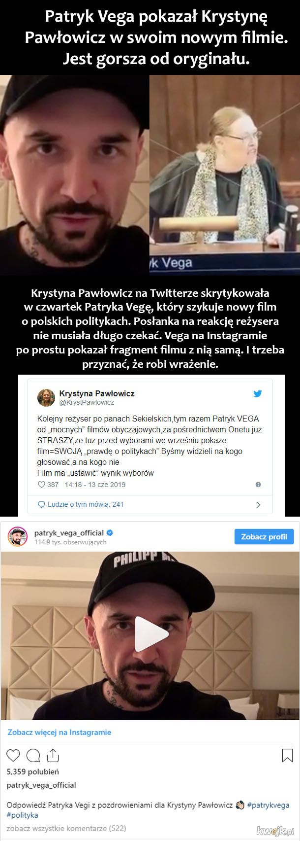 Vega vs Pawłowicz