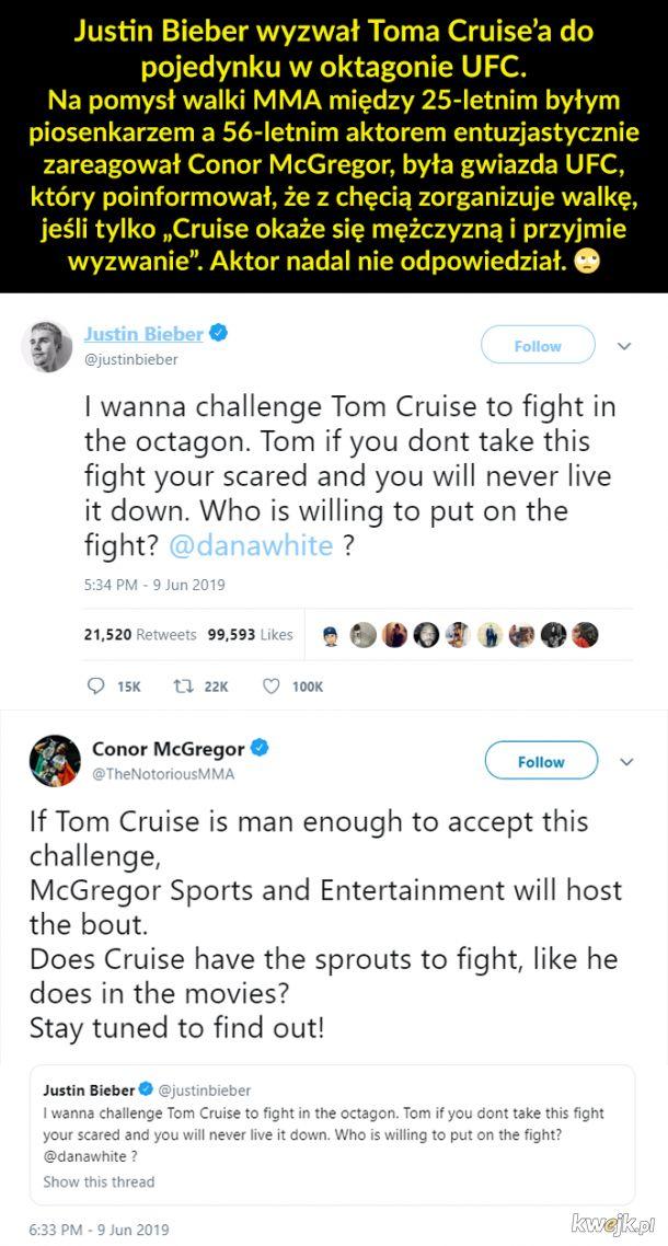 Biorąc pod uwagę umiejętności Toma, to byłby pojedynek gołej dupy z batem