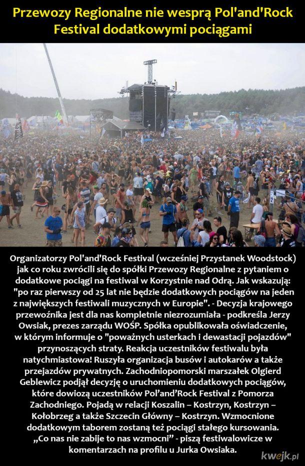 Determinacja fanów festiwalu 'PolandRock'