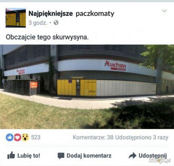 Ale bydlak, p o t ę ż n y paczkomat