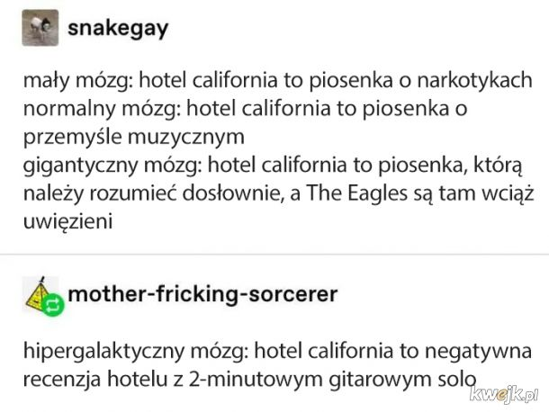 Welcome to the Hotel California, such a lovely place