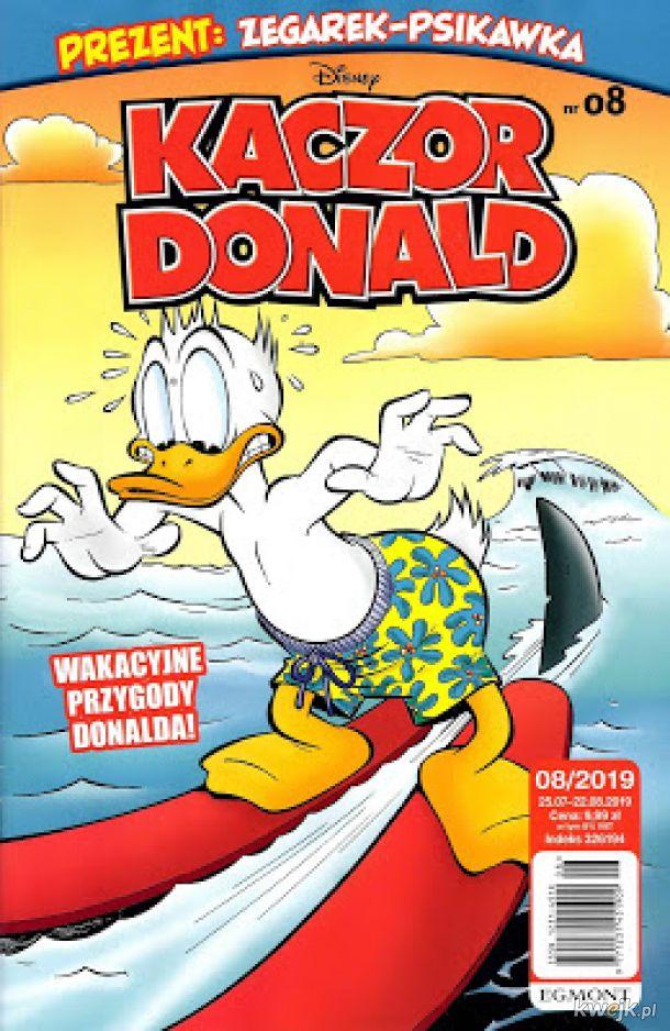 Kaczor Donald 2019-08 już w sprzedaży. W środku aż 43 stron komiksów Disneya !