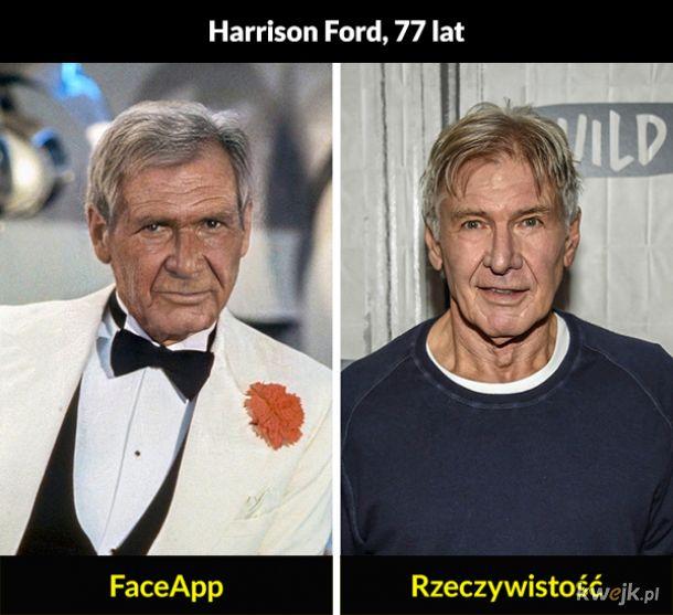 Aktorzy postarzeni przez FaceApp i w rzeczywistości