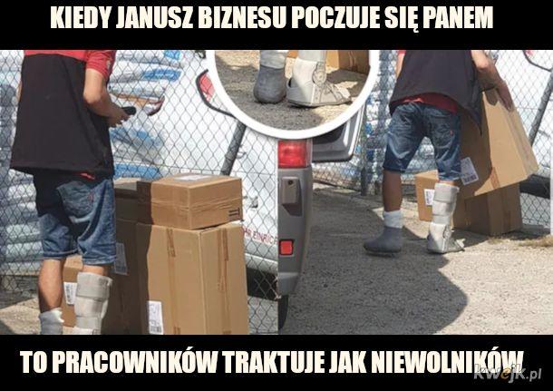 Złamane nogi - praca w Polsce taka jest