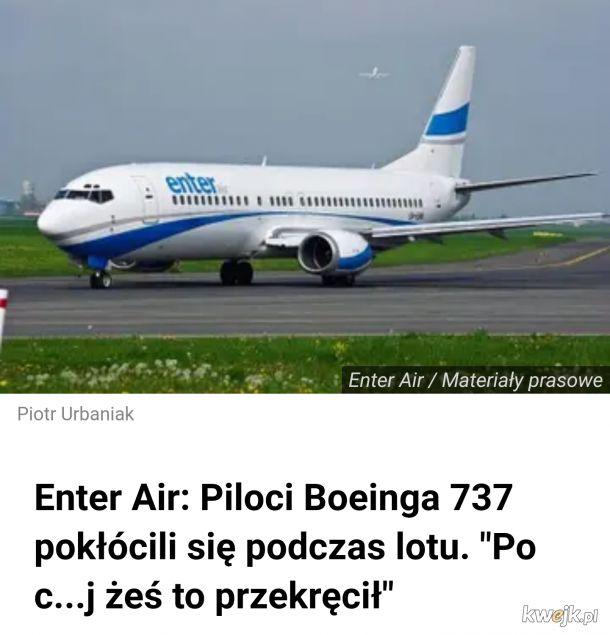Życzymy k***a miłego lotu