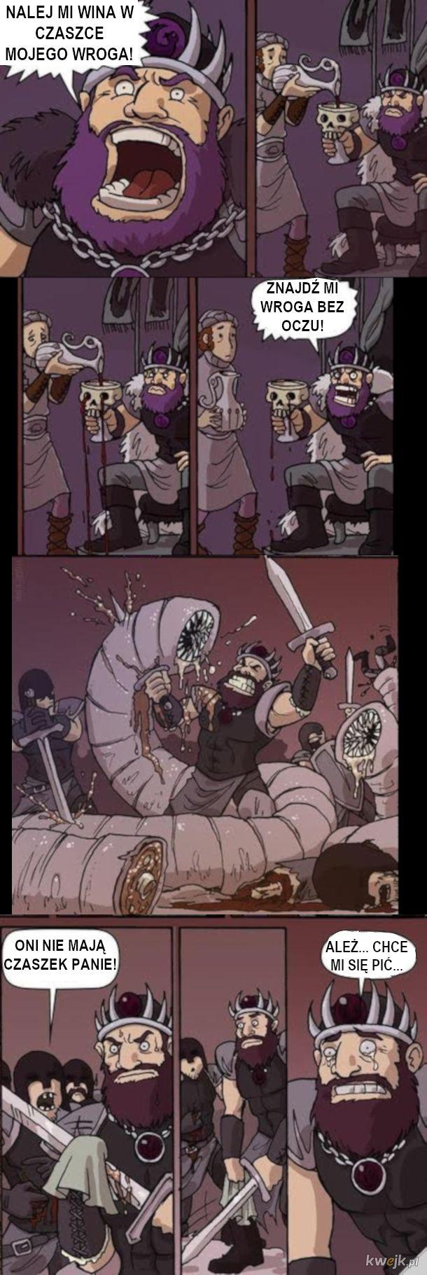 Picie z czaszek pokonanych wrogów