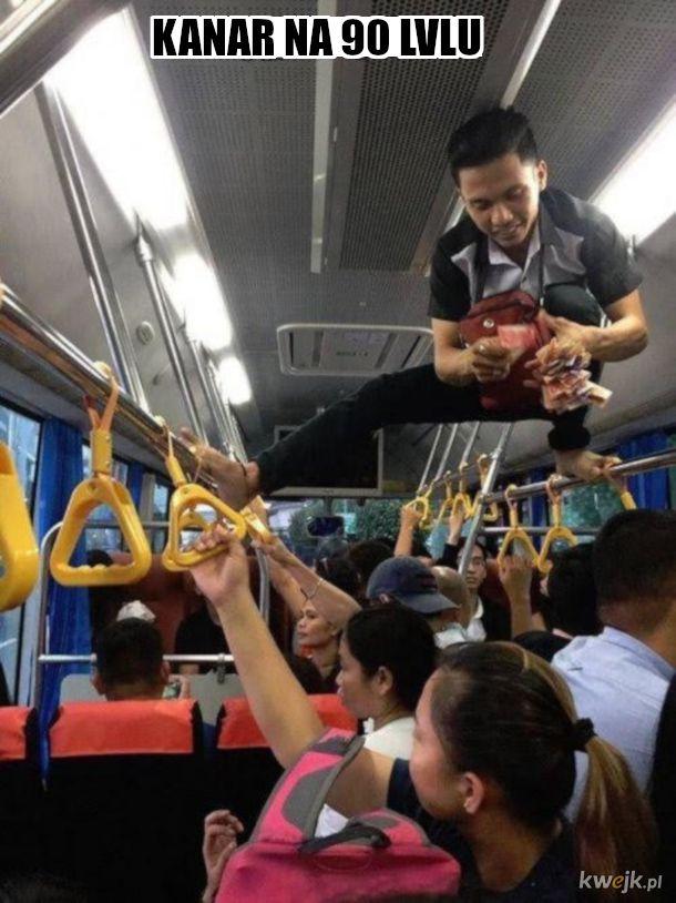 Tłok w chińskim autobusie