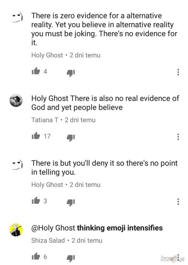 takie tam kłótnie o istnienie boga