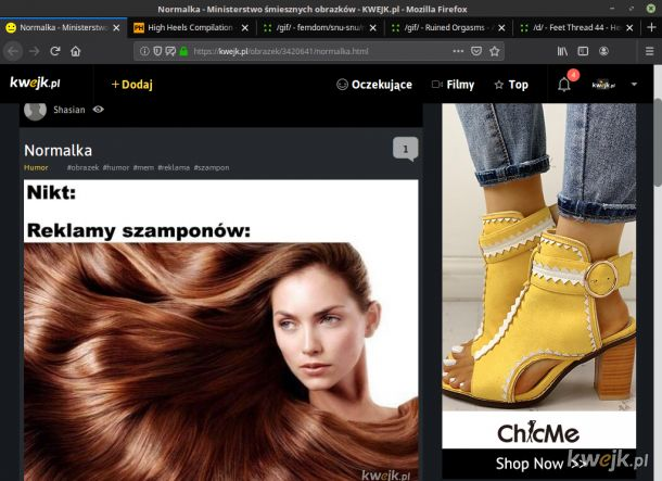 Ciągle dostaję reklamy Damskich butów, a ja nawet nie kupuje takich rzeczy