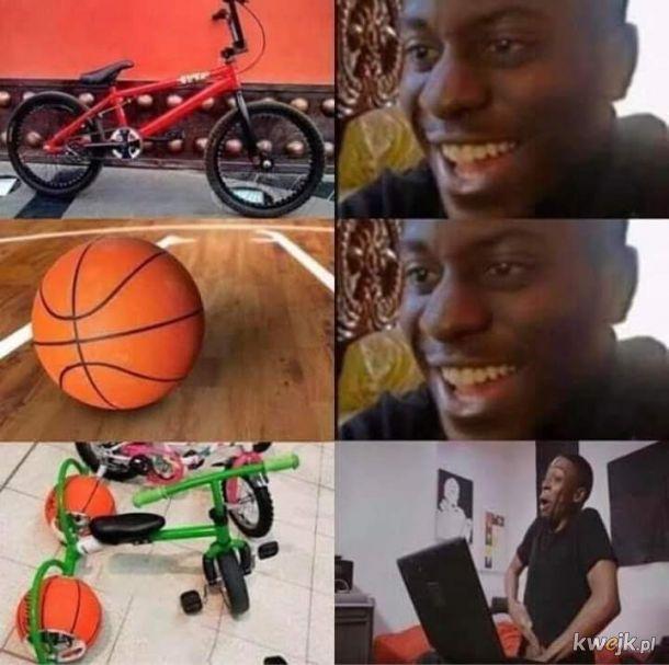 Miłosnicy koszykówki i rowerów