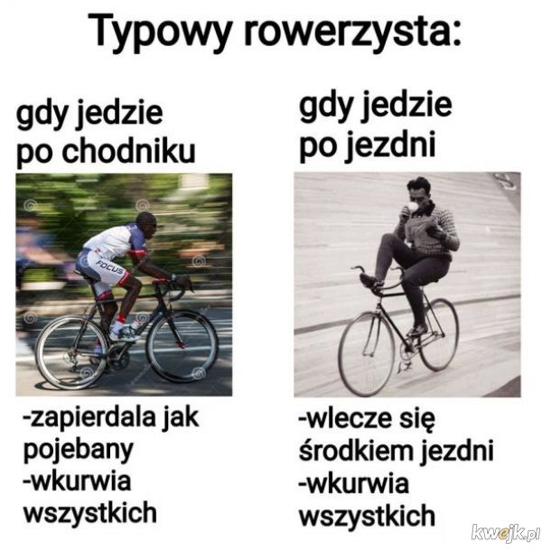 Typowy rowerzysta
